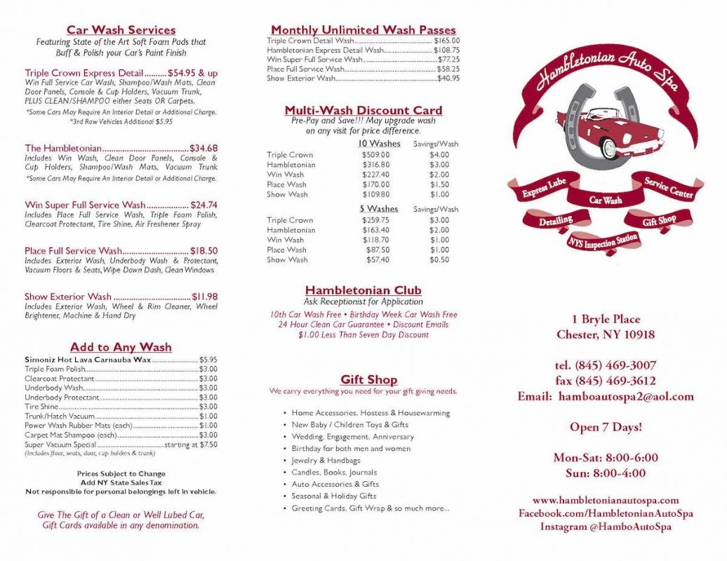 Hambletonian Auto Spa Brochure _Page_1